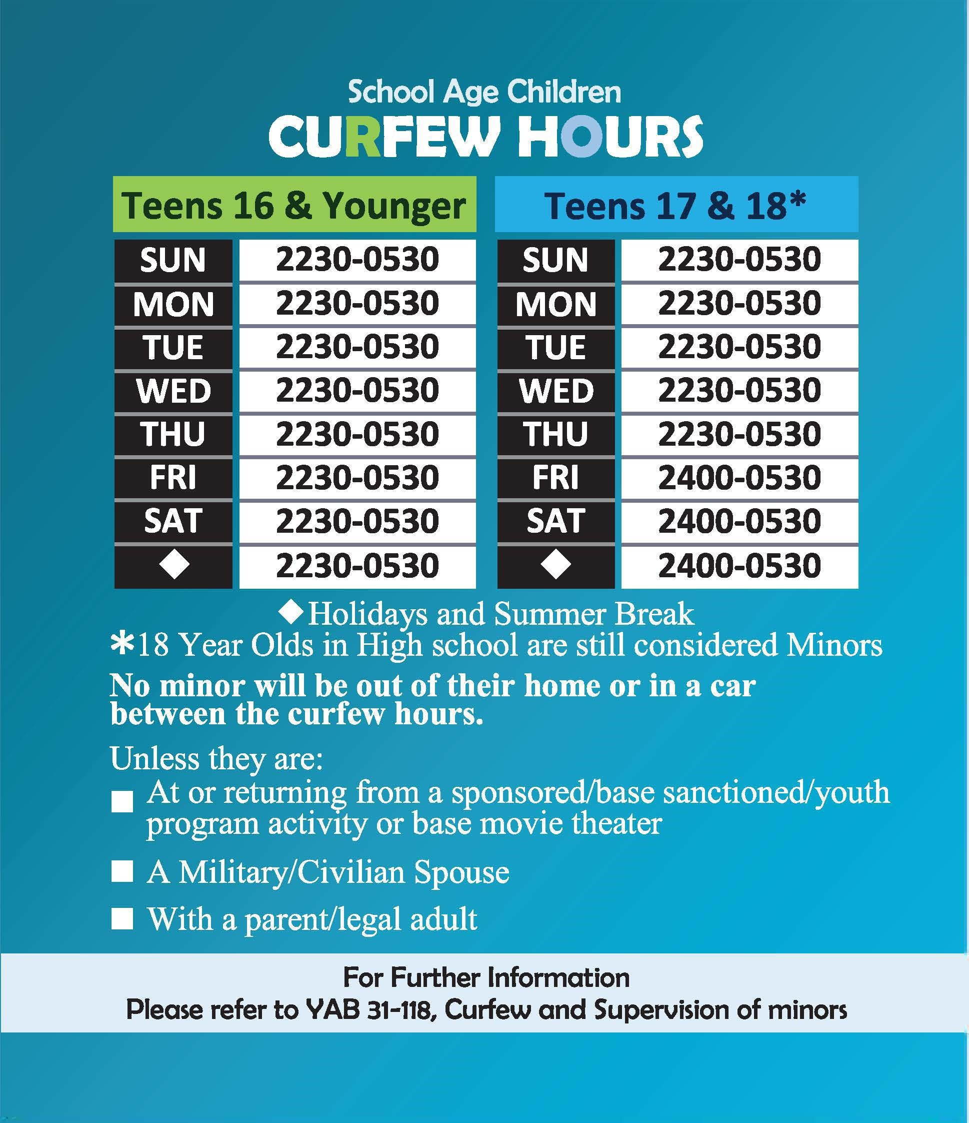 Curfew Hours Graphic