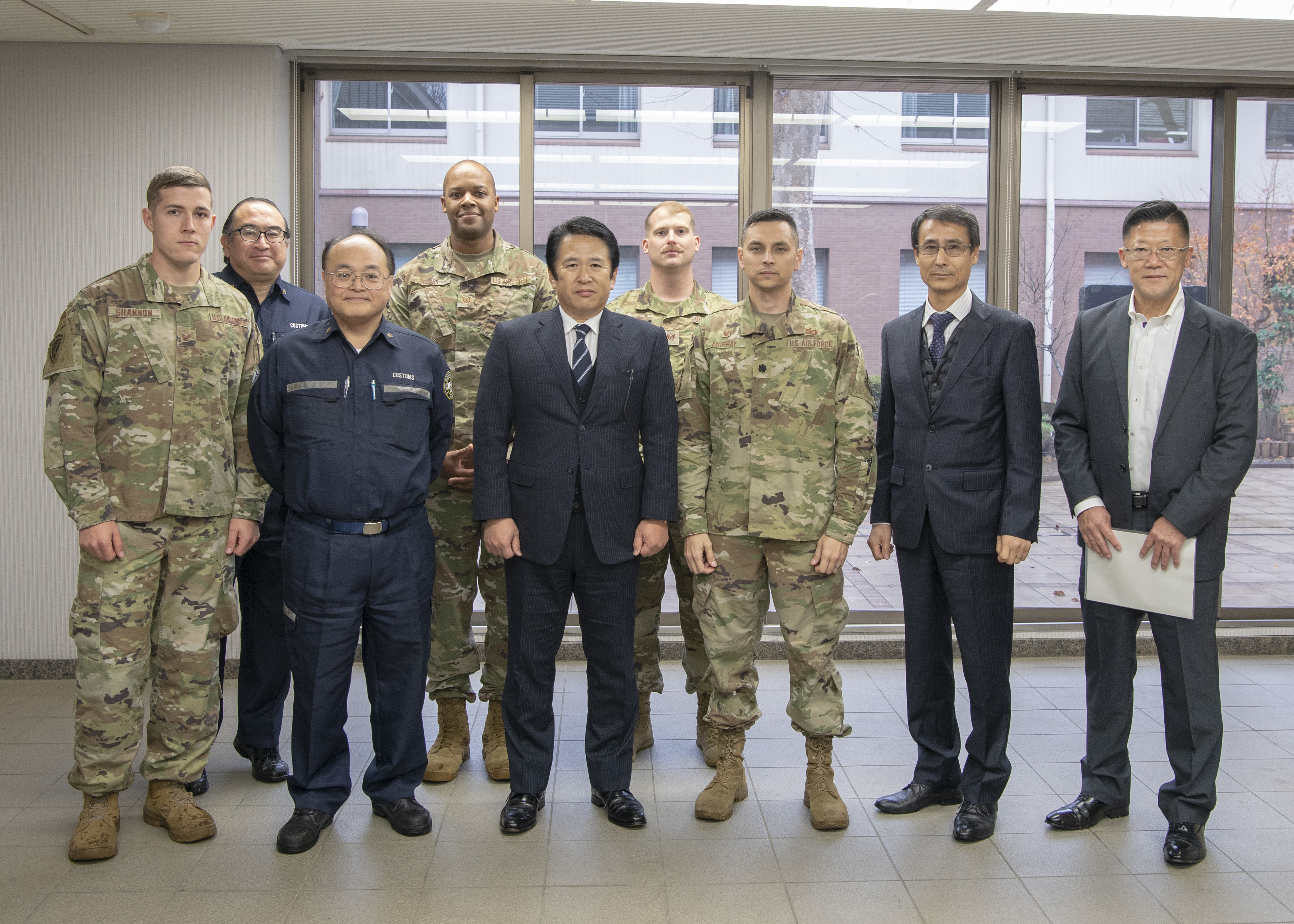Yokota MWD team train with Tokyo Customs