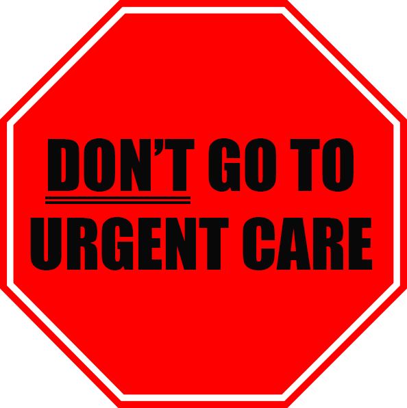 Urgent Care Stop Sign Graphic